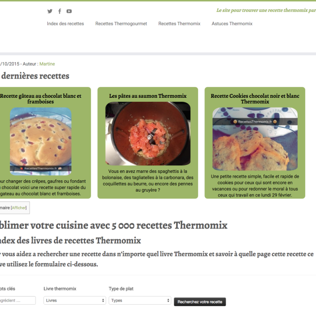 Recettes Thermomix