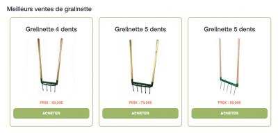 Grelinette pas chère
